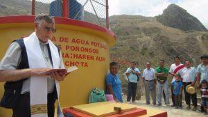 Inauguración y bendición del sistema de agua potable de Los Porongos